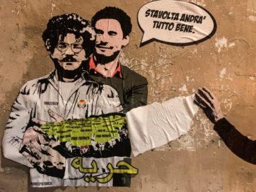 Regeni-Zaki: ecco la nuova opera della street artist LAIKA