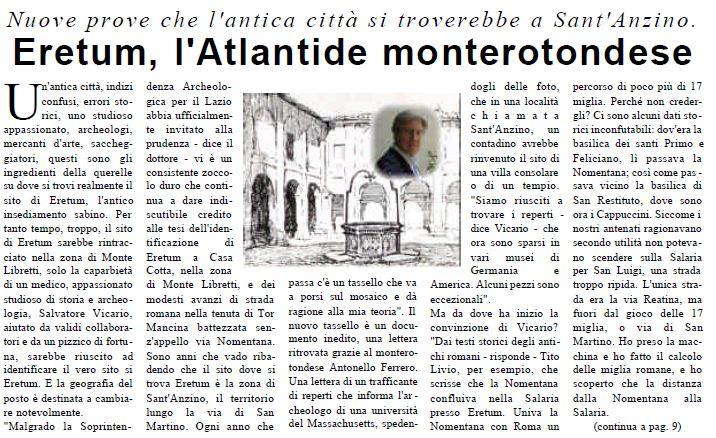 Screen dell'articolo pubblicato sul primo numero di Sitopreferito Magazine